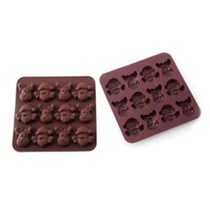 Χριστ. φόρμες σιλικόνης για σοκολατάκια
