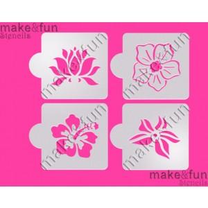 Λουλούδια - φύση (stencil)
