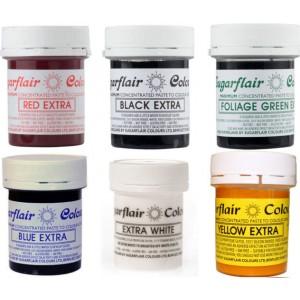 Χρώματα πάστας Sugarflair extra 42gr
